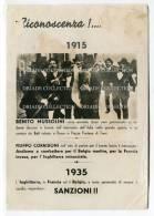 CARTOLINA ARRESTO DUCE BENITO MUSSOLINI ROMA ANNO 1915 1935 - Personaggi