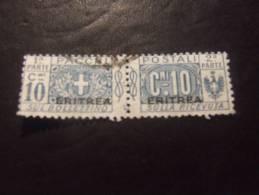 ERITREA 1917 PACCO 10 C USATO - Eritrea