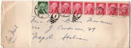 1957 USA United States Air Mail Letter Aldomingo To Italy Arrival Cancel - Stati Uniti