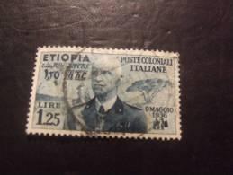 ETIOPIA 1936 RE 1,25 L USATO - Ethiopie