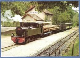 07 - CHEMIN DE FER DU VIVARAIS - Ligne TOURNON-LAMASTRE - Train Mixte à Colombier - Stazioni Con Treni