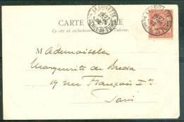 Tunisie Yvert N°23 Au Dos D'une Cpa  ( Mohamed Bey ) Oblitéré La Goulette /régence De Tunis En 1902  Am7221 - Unclassified