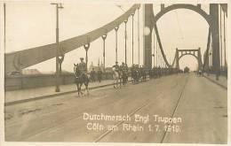 Avr13 548 : Köln (Cologne)  -  Durchmarsch Engl. Truppen  -  Soldats Cavaliers - Koeln