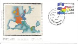 België    FDC     Zijde     2133    Europese Verkiezingen    Bastogne - 1981-90