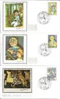 België    FDC     Zijde     2151 / 2153      Kinderen    La Hulpe - 1981-90
