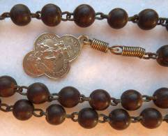 CHA-407Chapelet Très Ancien En Bon état Et Complet Belle Médaille - Religion & Esotérisme