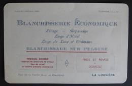 Carte De Visite Blanchisserie Economique, Rue De La Flache, La Louvière - Cartes De Visite