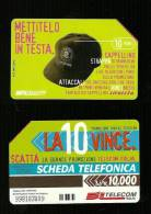 877 Golden - La 10 Vince - Mettitelo Bene In Testa Lire 10.000 Numerica - Italia