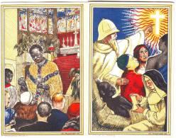 Mission Dépliant De L'oeuvre De St Pierre Apôtre, Illustré Par Ch Plessard - Missions