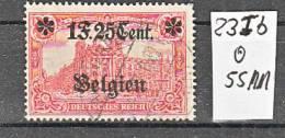 D. BESETZUNG Belgien. Mi. Nr. 23 I B, Sauber Gestempelt. 55 Michel-Mark. MK - Besetzungen 1914-18