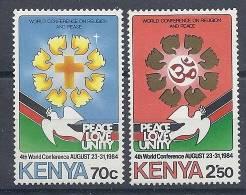130203114  KENYA  YVERT   Nº  301/302  **  MNH - Kenya (1963-...)