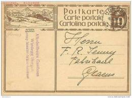 CH - 16868 - Entier Postal Avec Illustration Amden - Cachet à Date D´Horgen 1929 - Entiers Postaux