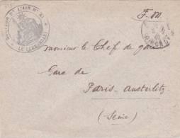 """1940 Lettre FM Cachet """" SECTEUR DE L'AIR N° XI """" Obl GRIGNOLS GIRONDE - 2. Weltkrieg 1939-1945"""