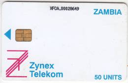 ZAMBIA - Zynex Telecom First Issue 50 Units, CN : XFCA, Used - Zambia