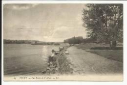 VICHY , Les Bords De L' Allier , 1908 , CPA ANIMEE ( Laveuses ) - Vichy