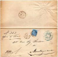 1879 LETTERA CON ANNULLO LEGNAGO VERONA + COMUNALE BONAVIGO - 1878-00 Umberto I