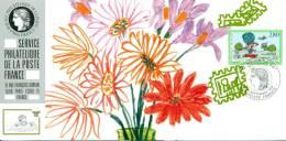 121 Carte Officielle Exposition Internationale Exhibition Mainz 1994 FDC Philexjeunes Flowers Blumen Fleurs Nature - Esposizioni Filateliche