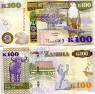 ZAMBIA New 100 Kwacha 2012 **UNC** - Zambia