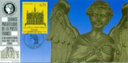 127 Carte Officielle Exposition Internationale Exhibition Milano 1995 FDC Châsse Saint-Taurin Evreux Eglise Church - Esposizioni Filateliche