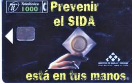 Télécarte Publique Téléfonica Prevenir El Sida1000Ptas 07/98 Utilisée 2èchoix**** - España