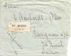1938 Einschreiben Von Lima Nach Langnau A/A Schweiz - Chili