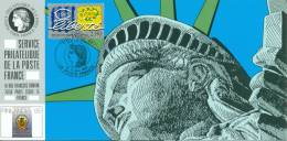 131 Carte Officielle Exposition Internationale Exhibition Helsinki 1995 FDC Liberty Statue Freiheitsstatue New York