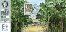 133 Carte Officielle Exposition Internationale Exhibition Singapore 1995 FDC Tree Baum Arbre Metier De La Forêt Wood - Singapour (1959-...)