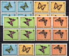 Naturschutz Schmetterling 1963 Indonesien 421/4 Plus 4x4Block ** 20€ WWF Nature Bloc Butterfly Sheet M/s Bf Of Indonesia - Indonesien