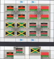 UNO Kleinbogen Flaggen IV 1983 New York 426/9 Plus 16-KB O 6€ MALAWI BYELORUSSIAN JAMAICA KENYA Bf Flag Sheet M/s UN NY - UNO
