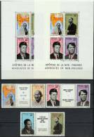 Cameroon Cameroun 1969 Space Apollo 11, JFK Kennedy, Gandhi, Martin Luther King Set Of 6 + 2 S/s With Red Overprint MNH
