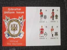 GIBRALTAR UNIFORM ISSUE FDC - Gibraltar