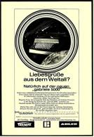 Reklame Werbeanzeige 1969 ,  Triumph-Adler Schreibmaschine Gabriele 5000 - Liebesgrüße Aus Dem Weltall? - Wissenschaft & Technik