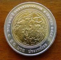 NEU 10 Baht 100 Jahre Verkehrsministerium Rama VI. Thailand 2013 Nr. 61 - Thaïlande