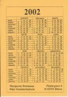 (AKE 101) Esperanto Card Calendar 2002 - Esperanto