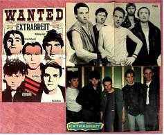 3 Kleine Poster  Gruppe Extrabreit ,  Rückseiten : Band Queen , Soft Cell , Löwe -  Von Pop Rocky + Bravo Ca. 1982 - Plakate & Poster