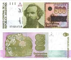 Argentina - Argentinien       500 Australes 1988-90 - Argentina
