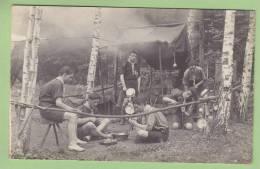 CHAMARANDE, Années 20 : La Cuisine Au Camp. Scouts De France. CARTE PHOTO. 2 Scans - Scoutisme