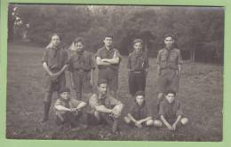 CHAMARANDE, Années 20 : Les Scouts De France. CARTE PHOTO. 2 Scans - Scoutisme
