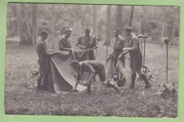 CHAMARANDE, Années 20 : Montage De La Tente. Scouts De France. CARTE PHOTO. 2 Scans - Scoutisme