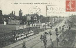 Lille - Vue Panoramique Sur La Nouveu Boulevard - Tramway -1921 ( Voir Verso ) - Lille