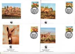 Anes D´Afrique-WWF-Soudan-1994 - 4 FDC