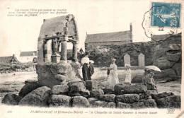 22 PLOUMANAC'H LA CHAPELLE DE SAINT GUIREC A MAREE BASSE ANIMEE CIRCULEE 1922 - Ploumanac'h