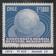 1974 - Amérique Du Sud - Chili - Coupe Du Monde De Football à Munich - 1000 E. Bleu Et Bleu-noir - - Coppa Del Mondo
