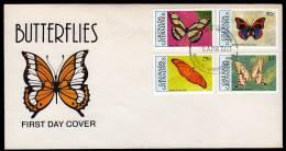 BUTTERFLY FDC Grenada/Grenadines 1991. - Schmetterlinge