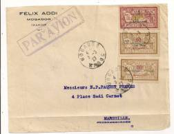 FRAGMENT ENVELOPPE TIMBRES  SURCHARGE PROTECTORAT FRANCAIS  CP7019 - Morocco (1891-1956)