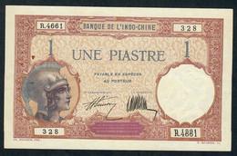 INDOCHINE   P48b   1   PIASTRE  1923 Signature 7    XF    2 P.h. ! ! - Indochine