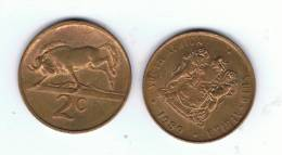 SUD AFRICA -  2 Cents  1989  KM83 - Ñu / Wildebeest - Animal Coin - Sudáfrica