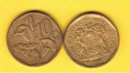 SUD AFRICA -  10 Cents  1993  KM135 - Planta Lirio /  Lily - Sudáfrica