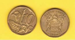 SUD AFRICA -  10 Cents  1996  KM161 - Planta Lirio /  Lily - Sudáfrica