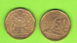 SUD AFRICA -  50 Cents  1991  KM137  -  Planta - Sudáfrica